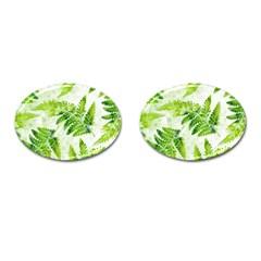 Fern Leaves Cufflinks (oval)
