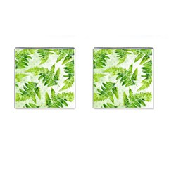 Fern Leaves Cufflinks (Square)