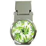 Fern Leaves Money Clip Watches Front