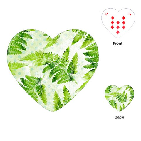 Fern Leaves Playing Cards (Heart)