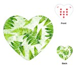 Fern Leaves Playing Cards (Heart)  Front