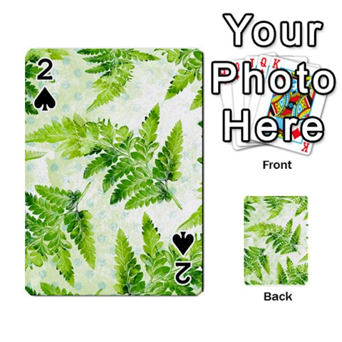 Fern Leaves Playing Cards 54 Designs