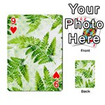 Fern Leaves Playing Cards 54 Designs  Front - Heart9