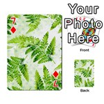 Fern Leaves Playing Cards 54 Designs  Front - Diamond7