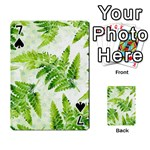 Fern Leaves Playing Cards 54 Designs  Front - Spade7