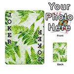 Fern Leaves Playing Cards 54 Designs  Front - Joker1