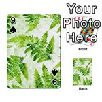 Fern Leaves Playing Cards 54 Designs  Front - Spade9