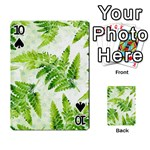 Fern Leaves Playing Cards 54 Designs  Front - Spade10