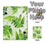 Fern Leaves Playing Cards 54 Designs  Front - SpadeJ