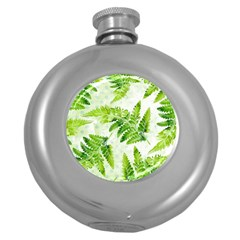 Fern Leaves Round Hip Flask (5 oz)