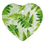 Fern Leaves Heart Ornament (2 Sides) Front