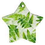 Fern Leaves Star Ornament (Two Sides)  Back