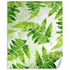 Fern Leaves Canvas 16  x 20