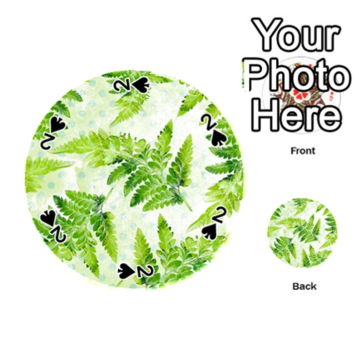 Fern Leaves Playing Cards 54 (Round)