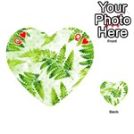 Fern Leaves Playing Cards 54 (Heart)  Front - HeartQ