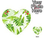 Fern Leaves Playing Cards 54 (Heart)  Front - Diamond9
