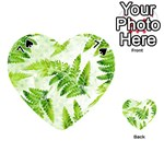 Fern Leaves Playing Cards 54 (Heart)  Front - Spade7