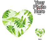 Fern Leaves Playing Cards 54 (Heart)  Back