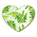 Fern Leaves Heart Mousepads Front