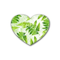 Fern Leaves Heart Coaster (4 pack)