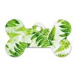 Fern Leaves Dog Tag Bone (Two Sides) Back