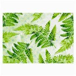 Fern Leaves Large Glasses Cloth Front
