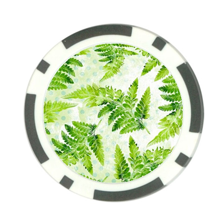 Fern Leaves Poker Chip Card Guards