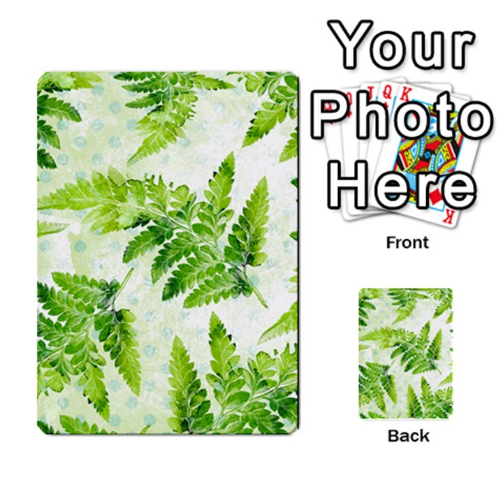 Fern Leaves Multi-purpose Cards (Rectangle)