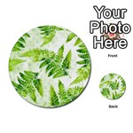 Fern Leaves Multi-purpose Cards (Round)  Back 36