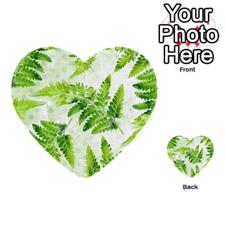 Fern Leaves Multi-purpose Cards (Heart)