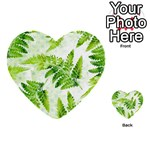Fern Leaves Multi-purpose Cards (Heart)  Front 13