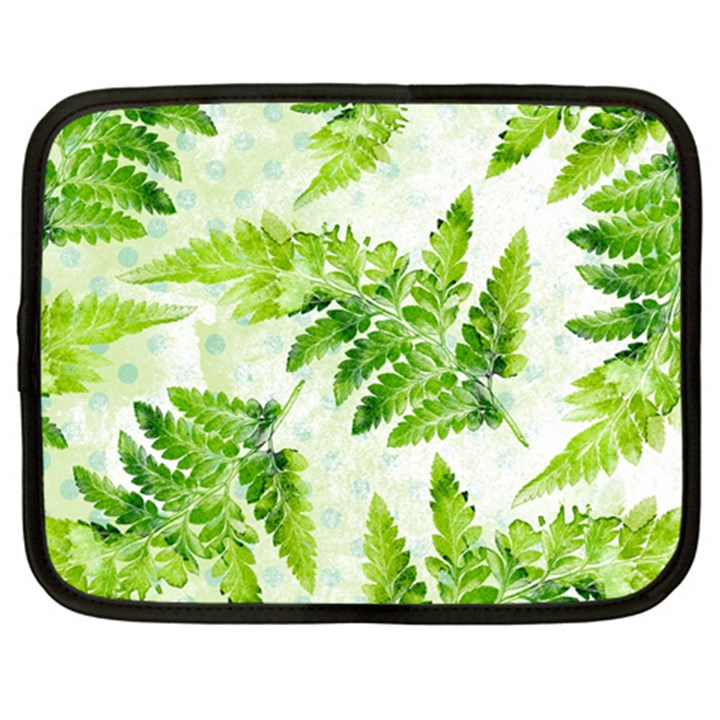 Fern Leaves Netbook Case (Large)