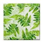 Fern Leaves Face Towel Front