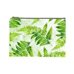 Fern Leaves Cosmetic Bag (Large)  Front