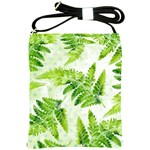 Fern Leaves Shoulder Sling Bags Front