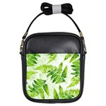 Fern Leaves Girls Sling Bags Front
