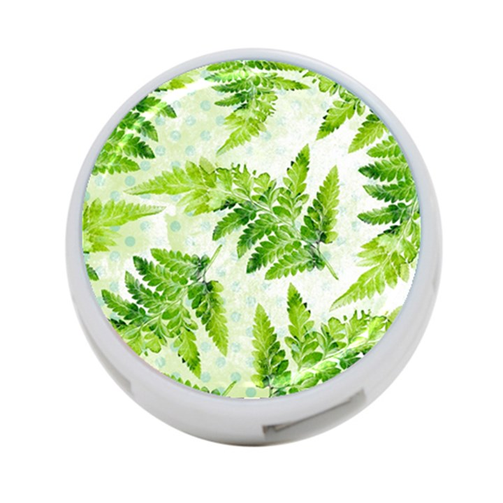 Fern Leaves 4-Port USB Hub (One Side)