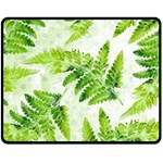 Fern Leaves Fleece Blanket (Medium)  60 x50 Blanket Front