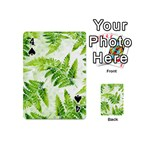 Fern Leaves Playing Cards 54 (Mini)  Front - Spade4