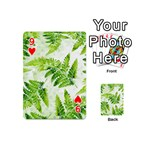 Fern Leaves Playing Cards 54 (Mini)  Front - Heart9
