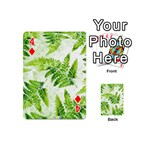 Fern Leaves Playing Cards 54 (Mini)  Front - Diamond4