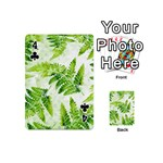 Fern Leaves Playing Cards 54 (Mini)  Front - Club4