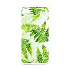 Fern Leaves Apple Iphone 4 Case (white)