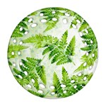 Fern Leaves Round Filigree Ornament (2Side) Back