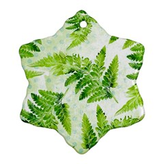 Fern Leaves Snowflake Ornament (2-Side)