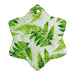 Fern Leaves Snowflake Ornament (2-Side) Back