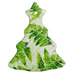 Fern Leaves Christmas Tree Ornament (2 Sides) Front