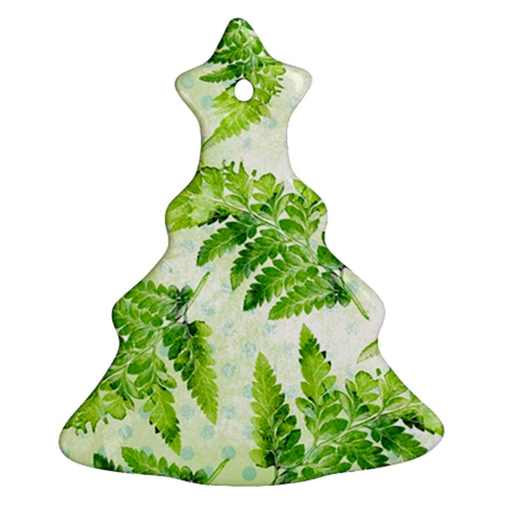 Fern Leaves Christmas Tree Ornament (2 Sides)