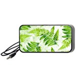 Fern Leaves Portable Speaker (Black)  Front