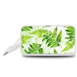 Fern Leaves Portable Speaker (White)  Front